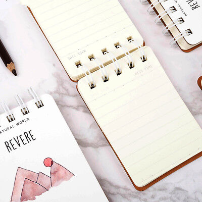 """""""Nature World"""" 1pc Cute Mini Diary Pocket Notebook Memo Pad Journal Coil Spiral"""