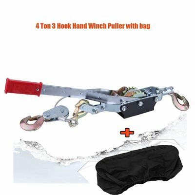 Heavy Duty 4 Ton 3 Hook Cable Puller Hand Winch Turfer For Caravan Boat Trailer