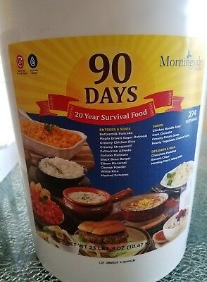 90 Day Supply Food Bucket Emergency Survival Disaster Pail Kit