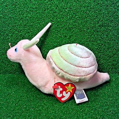 Ty Beanie Baby Swirly The Snail 1999 Retired Plush Toy - MWMT - Free Shipping