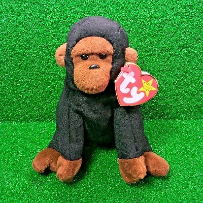 ee057c9dada NEW Ty Beanie Baby Congo The Gorilla 1996 Retired PVC Plush MWMT - FREE  Shipping
