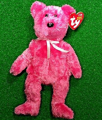 Ty Beanie Baby 2002 Sherbet The Pink Teddy Bear Retired - MWMT - Free Shipping