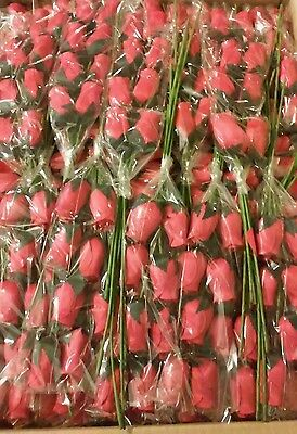 48 Wooden Roses Long Stem Four Dozen Flowers Red Wood Rose Bouquets Valentine's