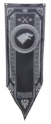 NEW Game of Thrones House Stark Tournament Banner 18 x 60 in