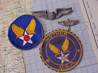 Original Wwii Usaaf Lot - Patch / Mirror / Wings