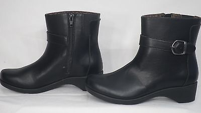 160bcdf832a26 HUSH PUPPIES 'TILDA Shae' Black Leather Ankle Boot Women Size 6 M ...