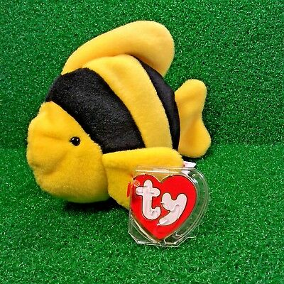 Ty Beanie Baby Bubbles The Fish Very Rare 2nd Gen Tush & 3rd Gen Swing - MWMT