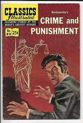 Classics Illustrated #89 Crime and Punishment by Dostoyevsky HRN 169 VG/FN 1969