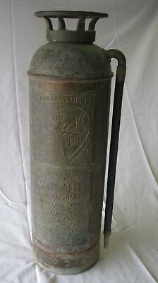 "Antique Vintage Copper Brass Fire Extinguisher ""The Elk Heart"""