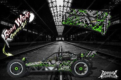 """Hpi Baja 5B Ss Wrap Graphic """"war Machine"""" Hop-Up Decal Kit For Oem Body Parts"""