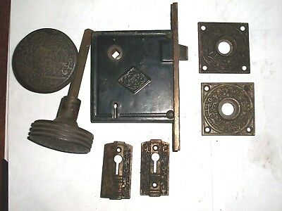 Antique Russell & Erwin Co. Mortise Lock Set