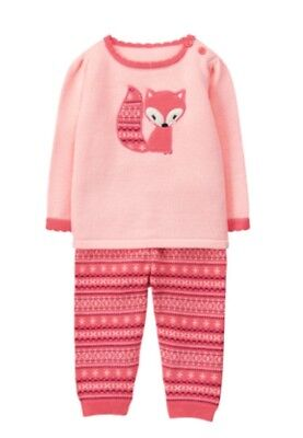 NWT Gymboree FOREST FOX Fox Sweater 2 Pcs Baby Girls Pants Set Outfit 12-18 M