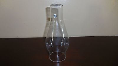 "Vintage Clear Glass Chimney Globe Shade 7 3/4"" Tall"