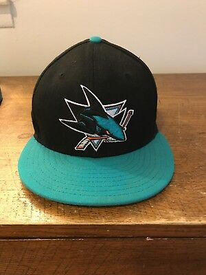 8631f83b902 New Era 59Fifty San Jose Sharks Fitted Hat (Black Teal) Men s NHL Hockey