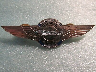 Vintage Original Metal Walt Disney World MONORAIL PILOT Wings Pin Badge RARE