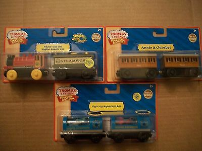 THOMAS Friends Lot Of 5 Wooden Engines Retired Rare See Pics ...