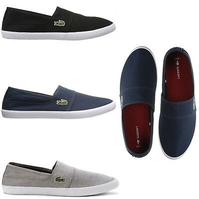 4ba1f8a63cdf13 Lacoste Men s Casual Comfort Shoes Marice Canvas Slip On Loafers NEW Pick  Color