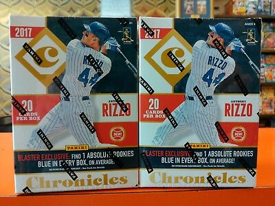Lot of TWO (2) 2017 DONRUSS CHRONICLES Baseball Blaster Box Boxes ROOKIES HOT!