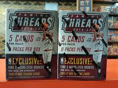Lot of TWO (2) 2016-17 PANINI THREADS Basketball Blaster Box Boxes 110 Cards!