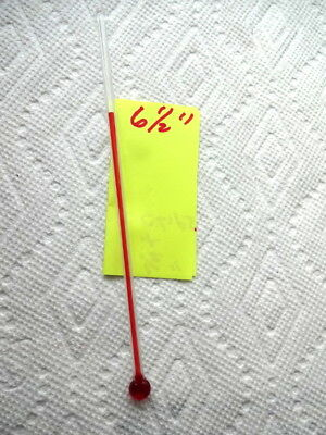 One 6 1/2 Inch Glass Replacement Thermometer Tube With Red Liquid Hard To Find
