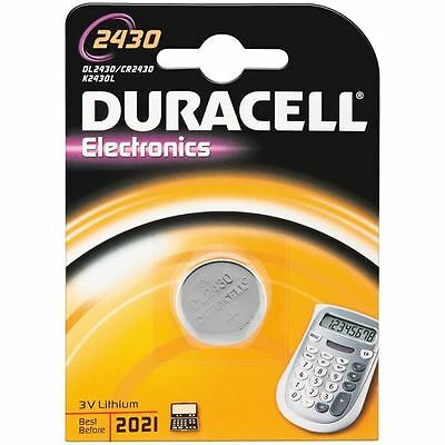 Battery Duracell Lithium Button 1 Pc. 2430 Dl2430 Cr2430 Ecr2430
