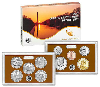 2017-S Proof Set -  10 Clad Proof Coins with Box and COA / same day shipping!