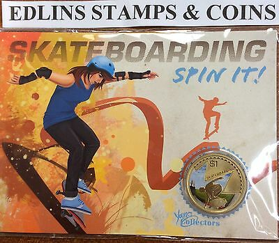 2013 $1 skateboarding coin - young collectors