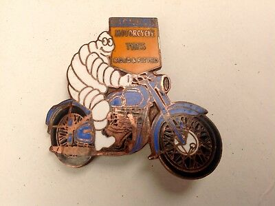 MICHELIN Motorcycle enamel c1960s Pin Badge/ Harley Davidson /BSA/Indian/Triumph