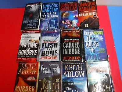 Lot Of 12 Mystery Novels By Linwood Barclay, Jefferson Bass.and Keith Ablow