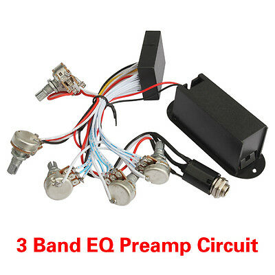 High Quality 3 Band EQ Preamp Circuit For Bass Pickup Active Module Kit Set New