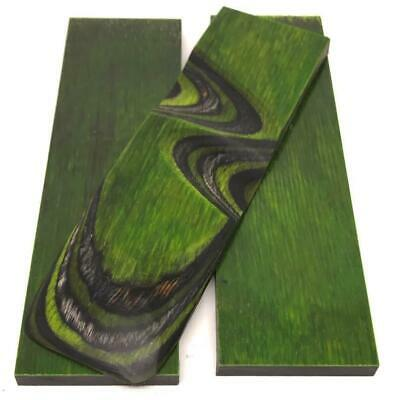 "Dymalux ""Green Hornet"" Laminated Wood Knife Handle Scales- 1/4"" x 1.5"" x 5"""