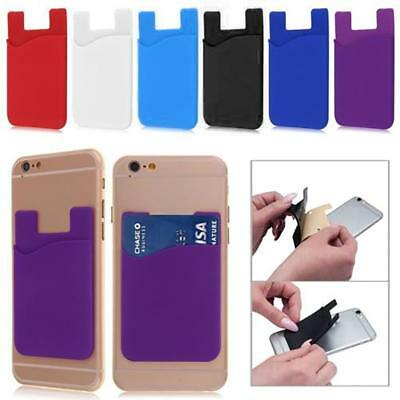 New Adhesive Silicone Credit Card Pocket Money Pouch Holder Case For Cell Phone,