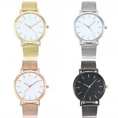 Fashion Casual Analog Women Stainless Steel Band Quartz Wrist Watches Watch