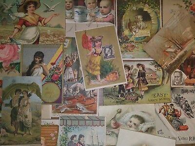Large Lot of Victorian Advertising Trade Cards 1880s Antique Vintage GREAT MIX