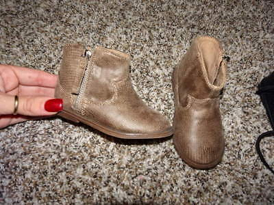 New Nwot Zara Baby 20 Us 4 4/5 Brown Boots Infant Baby Girls