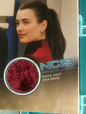 Ncis Cote De Pablo And Michael Weatherly Lot Of Worn Costume Cards