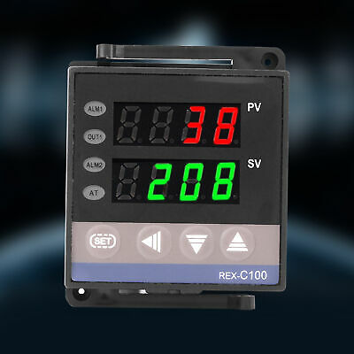 110V/220V REX-C100 Digital PID Temperature Controller RELAY & SSR Thermostat LJ