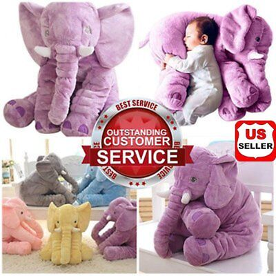 NEW Large Soft Stuffed Animals Elephant Plush Pillow For Baby Infant Gift HOT US