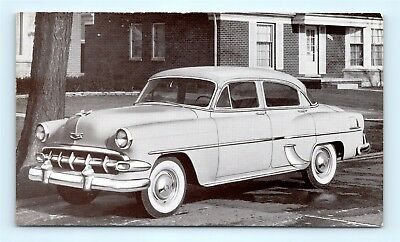 Postcard Ad Card 1954 Chevrolet Two Ten 4 Door Sedan R59
