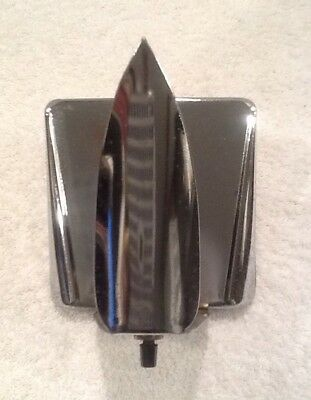 Vintage Art Deco Chrome Wall Sconce Light Fixture and Outlet