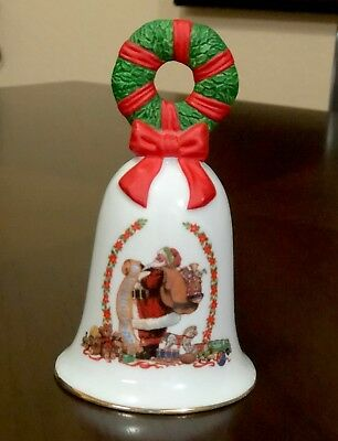 Avon 1995 Collectibles Vintage Christmas Porcelain Bell