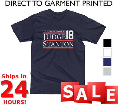 Aaron Judge Giancarlo Stanton T Shirt NY Yankees ELECTION 2018 Twin Towers NEW