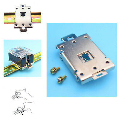 Single phase 35MM DIN rail fixed solid state relay clip clamp Mounting Rack FFA