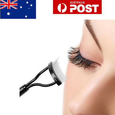 Eyelash Comb Lash Separator Mascara Lift Curl Metal Brush Beauty Cosmetic Tools