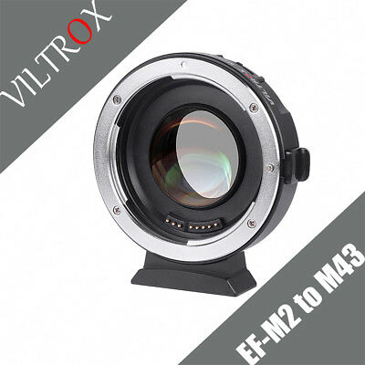 VILTROX EF-M2 0.71X Reducer Speed Booster Adapter fr Canon EF Lens to M43 Camera