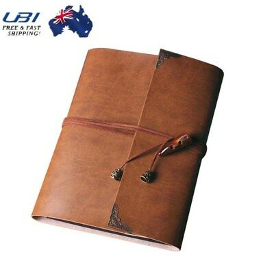 Vintage Leather Photo Album Scrapbook Pro Brown Memory Diary Memo Book Gift
