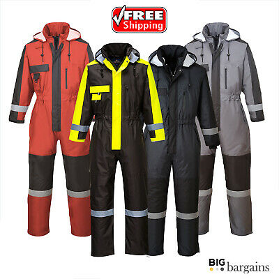 Portwest Winter Padded Thermal Warm Coverall Overall Boiler Suit Waterproof S585
