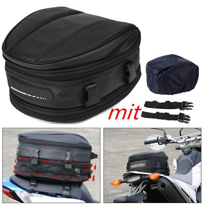 Motorcycle Rear Seat Box Back Saddle Pack Waterproof Shoulder Carry Bag w/ Cover