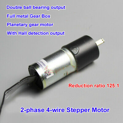 DC 5V 2-Phase 4-Wire 20mm Precision Planetary Stepper Motor Full Metal Gearbox