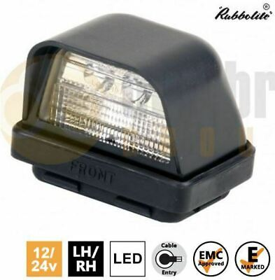 Rubbolite M833 12V/24V LED Number Plate Holder Light Lamp Truck Trailer Van Car